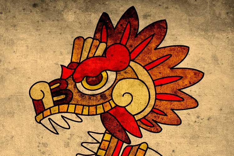 Quetzalcóatl o la serpiente emplumada.