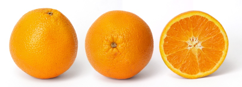 «Orange and cross section». Disponible bajo la licencia GFDL 1.2 vía Wikimedia Commons.