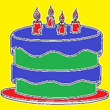 Un pastel en Paint para un cerdito hecho en Paint.
