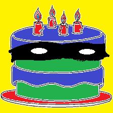 Nadie sospecha de un pastel con antifaz.