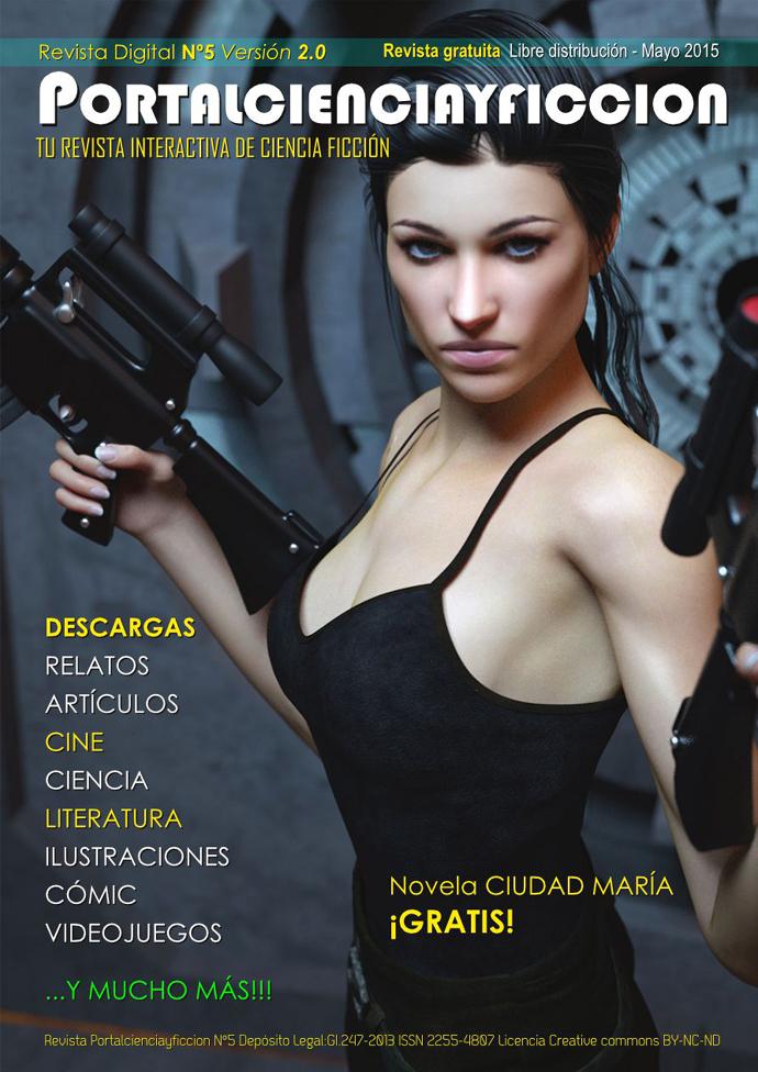 Siguiendo la tradición de las revistas modernas en la portada aparece una mujer atractiva en portada. ¿Soy el único que se pregunta cómo se utilizan dos miras telescópicas al mismo tiempo?
