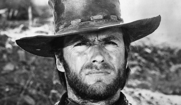 American film star and director Clint Eastwood in one of the westerns which made his name.   (Photo by Keystone/Getty Images)